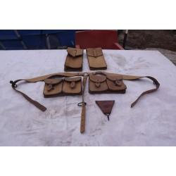 étuis à munitions cuir + Sangle bretelle cuir