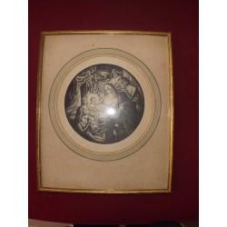 """Gravure """" Nativitè"""" de R.PIA 1925"""