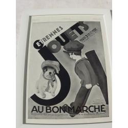 """Affiche Pub """" Au Bon Marché """" 1929 par Wilquin"""
