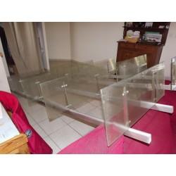 2 Meubles étagéres de magasin Aluminium et verre