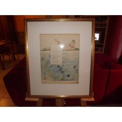 2 Gravures Aquarelles de William Blake