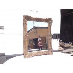 Miroir 19 ème Bois et Stuk doré