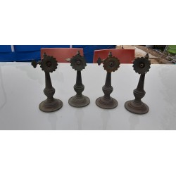 4 Appliques en Bronze 19 ème