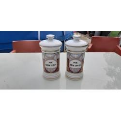 Paire de Pots a Pharmacie en Porcelaine 19 ème
