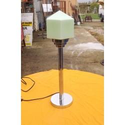 Lampe Année 60/70 Chrome et verre Opalin