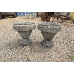 Paire de Vases en Pierre reconstituées Année 60
