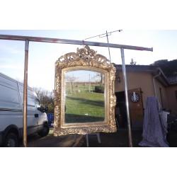 Miroir 19 éme Bois et Stuk Doré